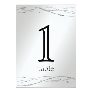 Platinum Dots 20th Anniversary Table Number