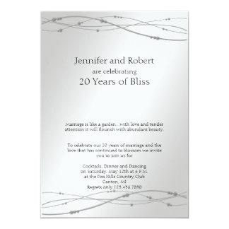 Platinum Dots 20th Wedding Anniversary Card