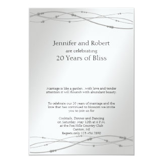 Platinum Dots 20th Wedding Anniversary Invitation