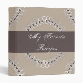 Platinum Eyelets Recipe Book Binders