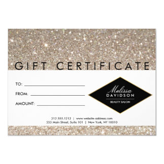Platinum Glitter and Glamour Gift Certificate Card