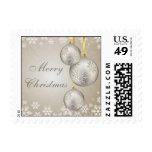 Platinum Gold Christmas Balls and Snow Postage