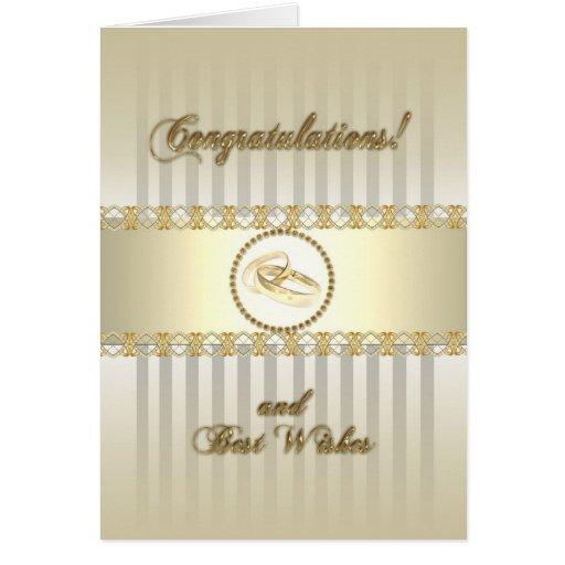 Platinum Gold Wedding Greeting Card