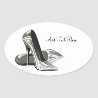 Platinum High Heel Shoes Envelope Seal Sticker