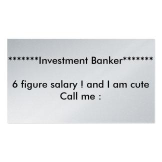Platinum ! investment banker business cards