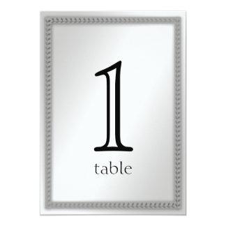 Platinum Leaf 20th Anniversary Table Number