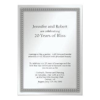 Platinum Leaf 20th Wedding Anniversary Invitation