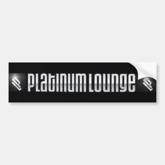 Platinum Lounge Bumper sticker (black)