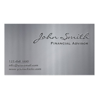 Platinum Metal Financial Advisor Business Card
