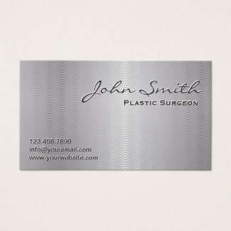 Platinum Metal Plastic Surgeon Business Card