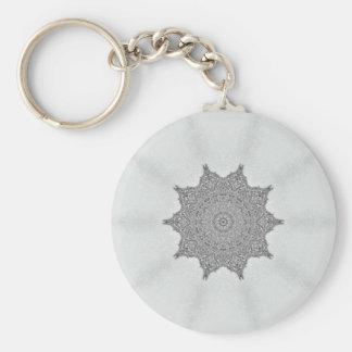 Platinum Morning Glory keychain