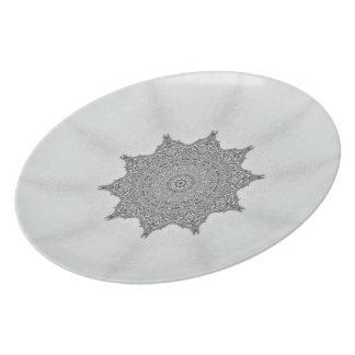 Platinum Morning Glory plate