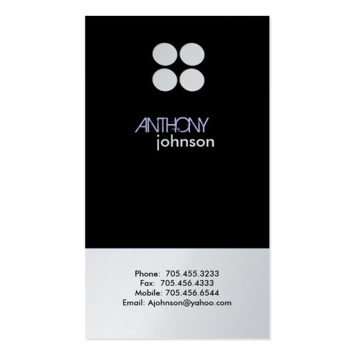 Platinum Profile Cards | Modern Business Card Template