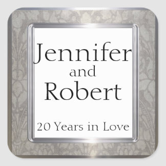 Platinum Rings 20th Anniversary Envelope Seal
