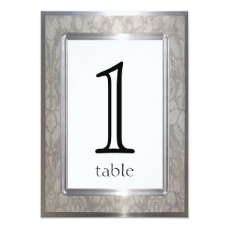 Platinum Rings 20th Anniversary Table Number