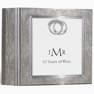 Platinum Rings 20th Wedding Anniversary Binder