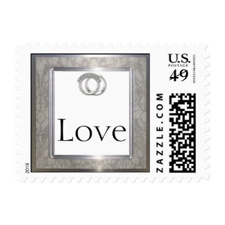 Platinum Rings 20th Wedding Anniversary Stamp