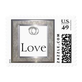 Platinum Rings 20th Wedding Anniversary Stamp