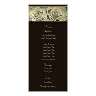 Platinum Rose Wedding Menu Rack Cards