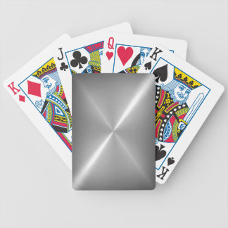 Platinum Stainless Shiny Metal Bicycle Playing Cards