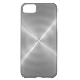 Platinum Stainless Steel Metal 2 iPhone 5C Case