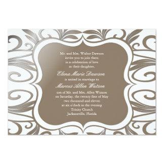Platinum Swirl Emblem Wedding Invitation