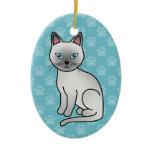 Platinum Tonkinese Cat Christmas Ornament