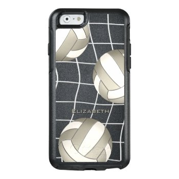Platinum White Women's Volleyball Otterbox Iphone 6/6s Case by katz_d_zynes at Zazzle