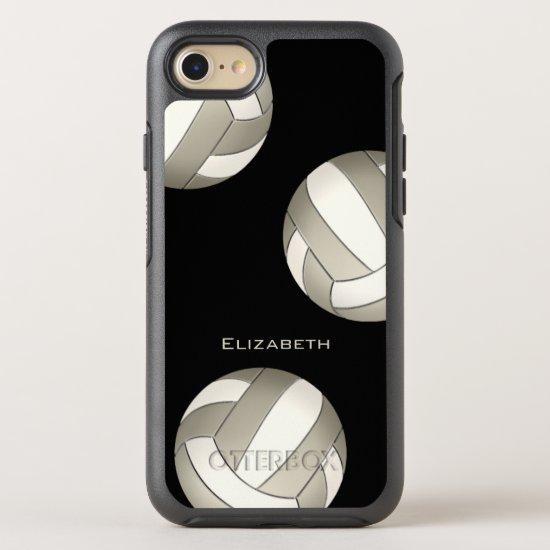 platinum white women's volleyball OtterBox symmetry iPhone SE/8/7 case