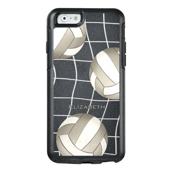 platinum white women's volleyball OtterBox iPhone 6/6s case