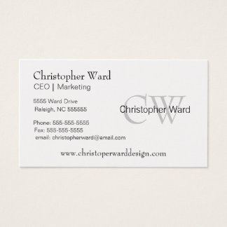 Platinum with Text Logo Business Card