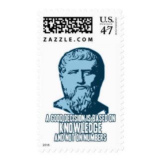 Plato: A Good Decision is Based on Knowledge Postage