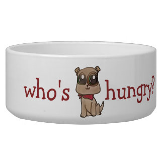 Plato adorable del perrito del dogo comedero para mascota