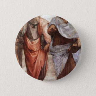Plato and Aristotle Button