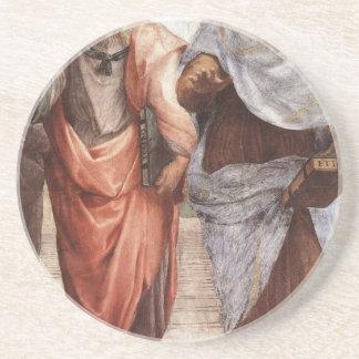 Plato and Aristotle Coaster