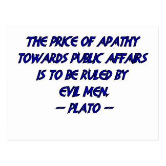 Plato and Evil Men Postcard