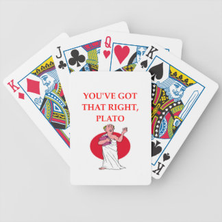 PLATO BICYCLE PLAYING CARDS
