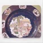 Plato circular con una escena musical alfombrilla de raton