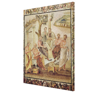 Plato Conversing with his Pupils Stretched Canvas Print