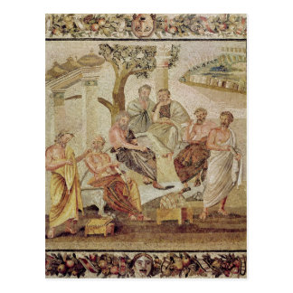 Plato Conversing with his Pupils Postcard