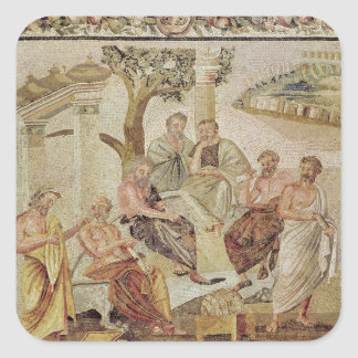 Plato Conversing with his Pupils Square Sticker
