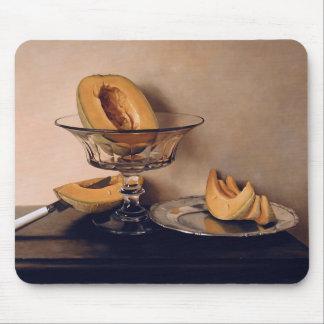 Plato cristalino con los melones de Mauro David Alfombrilla De Ratón