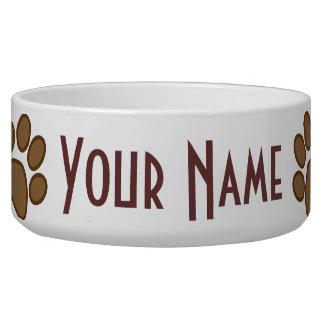 Plato de alimentación personalizado de la impresió tazones para perro