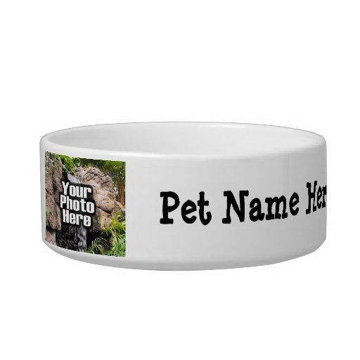 Plato de encargo personalizado del cuenco de la fo tazón para agua para gatos