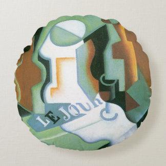 Plato de Juan Gris, cubismo de la botella y de Cojín Redondo