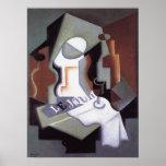 Plato de la botella y de fruta, por Juan Gris Poster