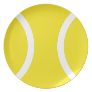 Plato de la cena de la pelota de tenis