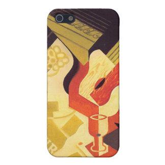 Plato de la guitarra y de fruta, por Juan Gris iPhone 5 Cárcasas
