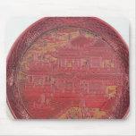 Plato de la laca, tallado mouse pad
