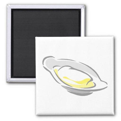 Plato de mantequilla imán cuadrado